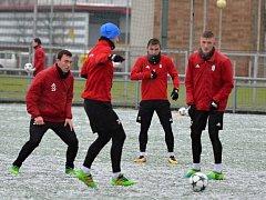 Úvodní trénink roku 2018 fotbalistů FK Mladá Boleslav.