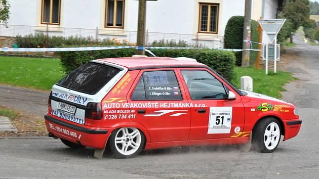 Klinger s Trubičkou na Rally Humpolec