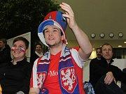 Fanoušci českého hokejového týmu se sešli na Karmeli