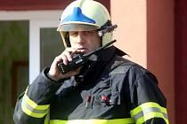 Požár panelového domu. Ilustrační foto.