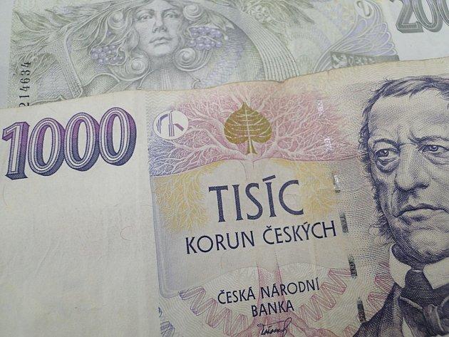 Peníze. Ilustrační foto