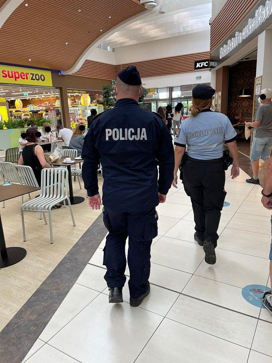 Česko polské policejní hlídky.