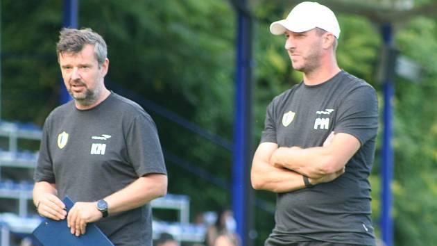 Petr Mikolandu zastoupil v roli hlavního trenéra Horek jeho asistent Kamil Mácha.