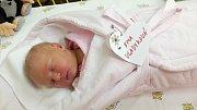 Ema Vladyková se narodila 4. října, vážila 3,37 kg a měřila 50 cm. S maminkou Denisou a tatínkem Honzou bude bydlet v Kolomutech, kde už se na ni těší sestřička Elinka.