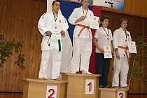 Jakub Görög (vlůevo)si přivezl z mistrovství republiky v judu starších žáků stříbro.