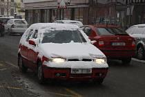 Sníh zasypal Mladou Boleslav