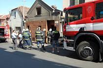Zásah hasičů u Pražské bráně