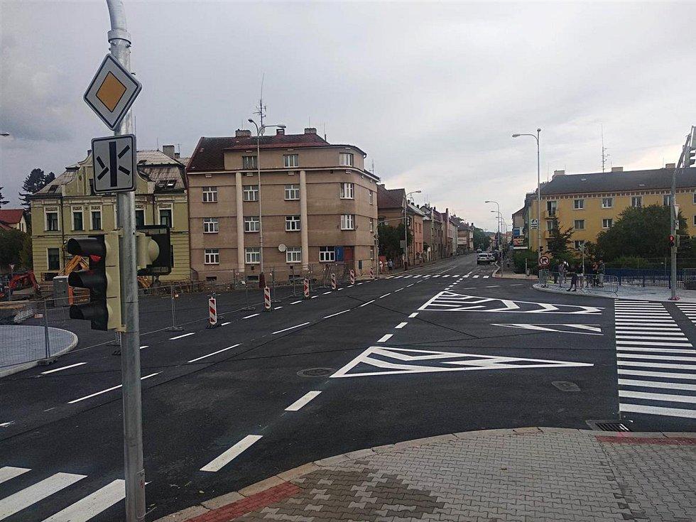 Nově otevřený most U Měšťáků v Mladé Boleslavi.