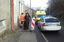 Zásah městské policie a záchranářů ve Vinecké ulici v Mladé Boleslavi.
