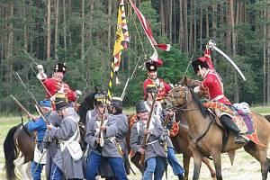 REKONSTRUKCE prusko-rakouské bitvy.