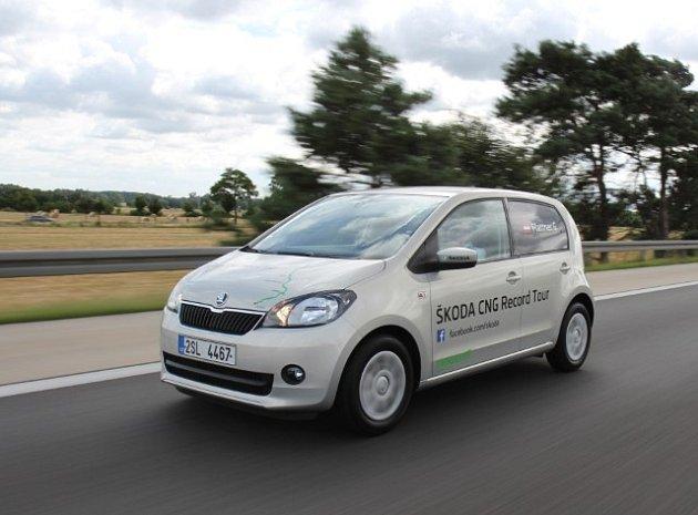 Škoda Citigo CNG při rekordní jízdě