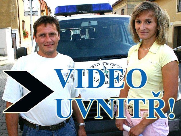Policista Jiří Šnýdr a jeho kolegyně Petra Vališová z Mladé Boleslavi zachránili ženu, která se chtěla zabít.