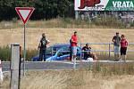 U dopravní nehody nedaleko Čisté zasahoval také vrtulník.
