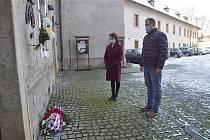Uctění památky obětí holokaustu v Mladé Boleslavi.