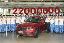 Škoda vyrobila 22miliontý vůz. Z linky sjel v čínském závodě.