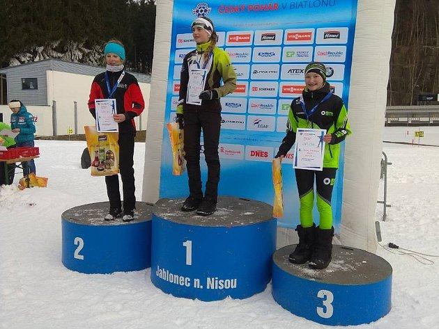 Tereza Schejbalová si dojela pro třetí místo v závodě Českého poháru.