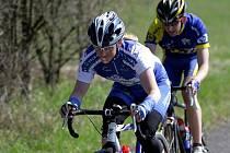 Cyklistka Jana Kyptová (vpředu) ještě v dresu Auto Škody.