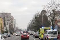 Místo nehody na Jičínské ulici.