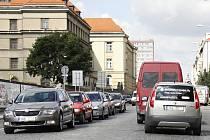 Provoz aut v Mladé Boleslavi srpen 2012