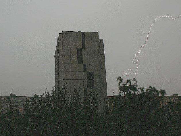 Bouřka v Mladé Boleslavi 9.6.2013