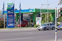 OMV v Jičínské ulici. Natural 95 se tam v září prodával za 30,50 a diesel za 29,70 korun. Současné ceny zjištěny v úterý v dopoledních hodinách.