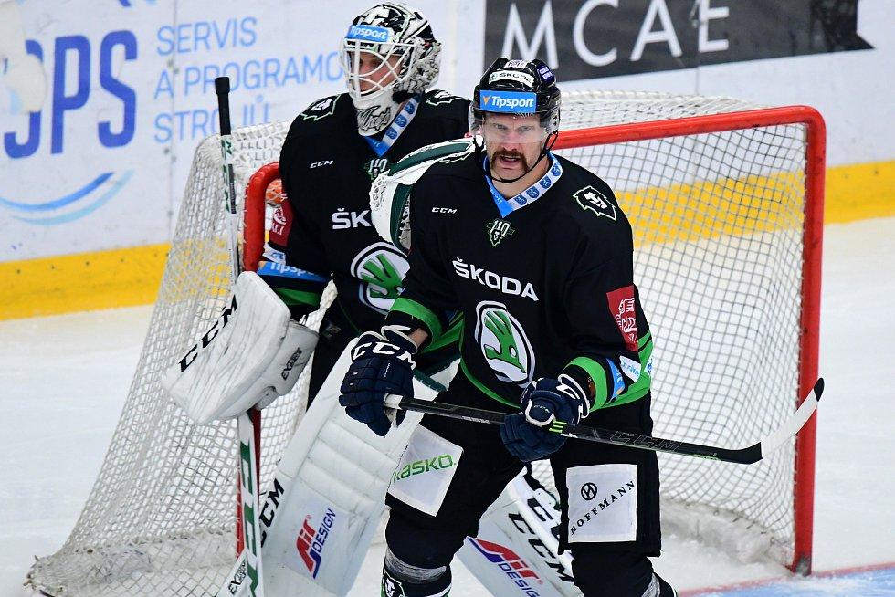 Hokej, Tipsport extraliga, BK Mladá Boleslav - Mountfield Hradec Králové. David Štich se vrátil do bývalého klubu a vítězně.