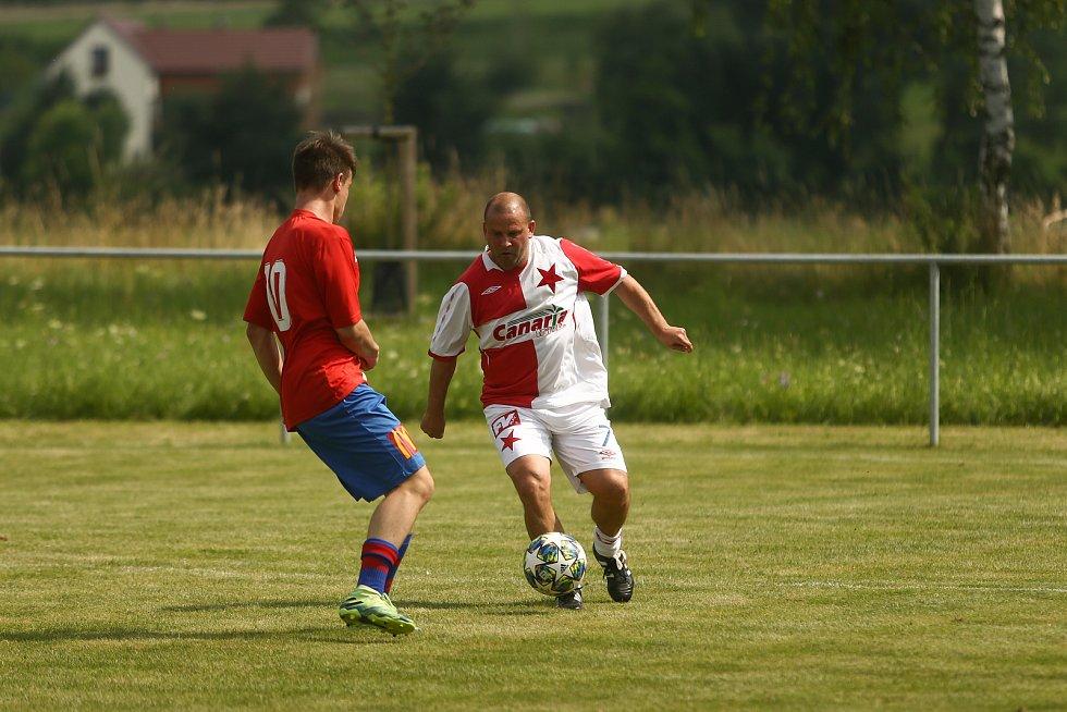 Zápas Kochánky vs stará garda Slavie Praha v sobotu 24. července 2021.