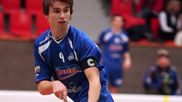 Kapitán boleslavských florbalistů byl největší hvězdou utkání s Chodovem.