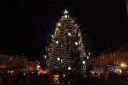 Vánoční výzdoba v Mladé Boleslavi.