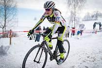 Mladoboleslavská závodnice Tereza Vaníčková na cyklokrosovém mistrovství České republiky v Hlinsku.