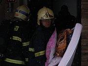 Požár domu v Horních Stakorách