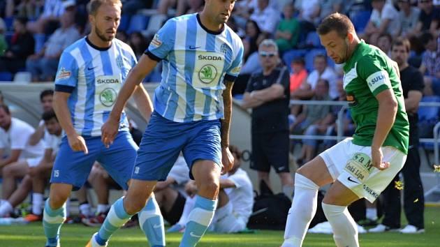 Lukáš Magera v zápase proti Jablonci