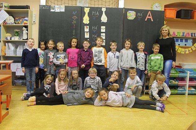 Základní škola Kosmonosy 1.C, třídní učitelka Radomíra Martínková