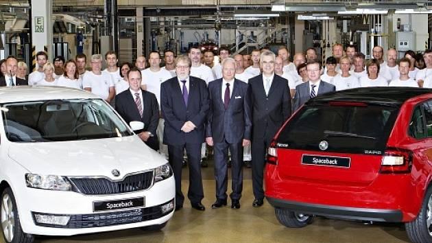 Nová Škoda Rapid Spaceback se začala vyrábět v Mladé Boleslavi