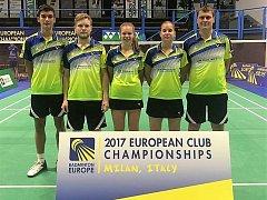 Badmintonisté Benátek na mistrovství Evropy klubů v Miláně.
