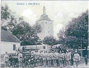 SDH Hrušov, historické foto z roku 1910.