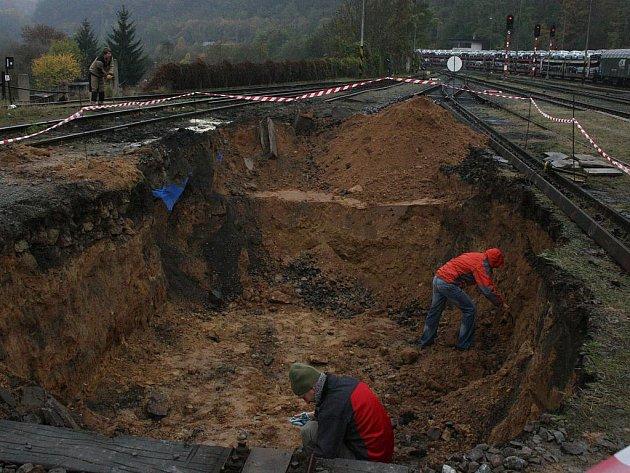 Ekologická havárie na hlavním nádraží.