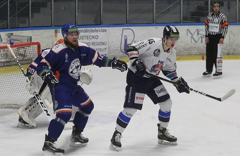 Hokejové utkání Litoměřice a Benátky.