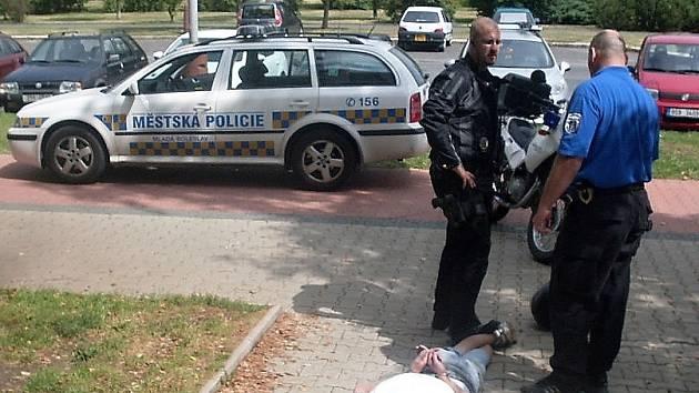 Zloděj byl dopaden nedaleko bývalého kina Forum.