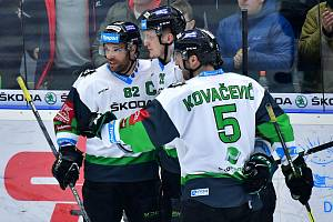 48. kolo hokejové Tipsport extraligy: BK Mladá Boleslav - Piráti Chomutov 4:1.