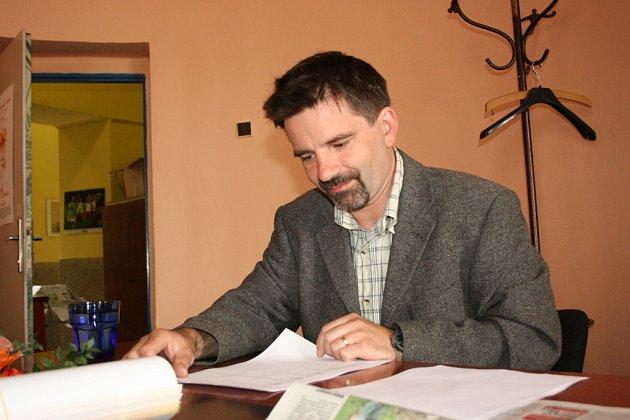 Miroslav Nigrín v redakci Boleslavského deníku