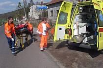 Transport pacienta do sanitky