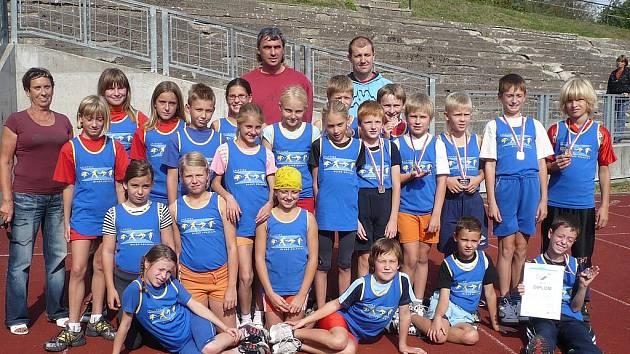 Úspěšná výprava mladých boleslavských atletů na krajském finále žactva v Liberci.