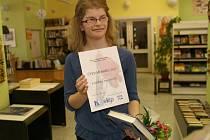 Kateřina Bauerová - čtenářka roku 2012 v boleslavské knihovně