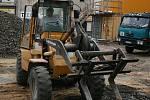 probíhají práce na Staroměstském náměstí v Mladé Boleslavi