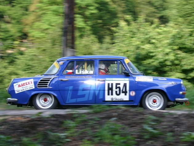 Rally Bohemia Historic show: 1.RZ Vinec - Skalsko