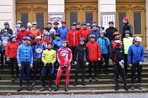 Novoroční vyjížďka cyklistů