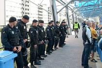 Na zápas dohlíželi jak městští, tak i státní policisté.