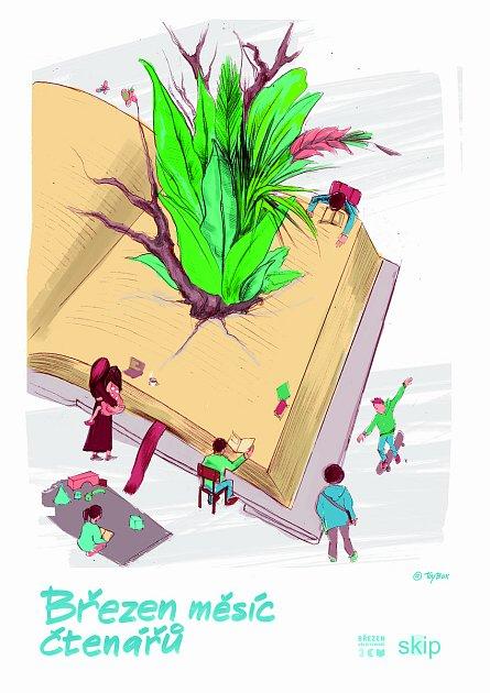 Plakát - březen měsíc čtenářů