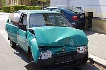 Nehoda na křižovatce ulic Palackého a Husova v Mladé Boleslavi.